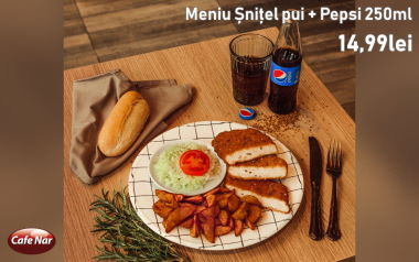 Meniu Șnitel de pui + Pepsi