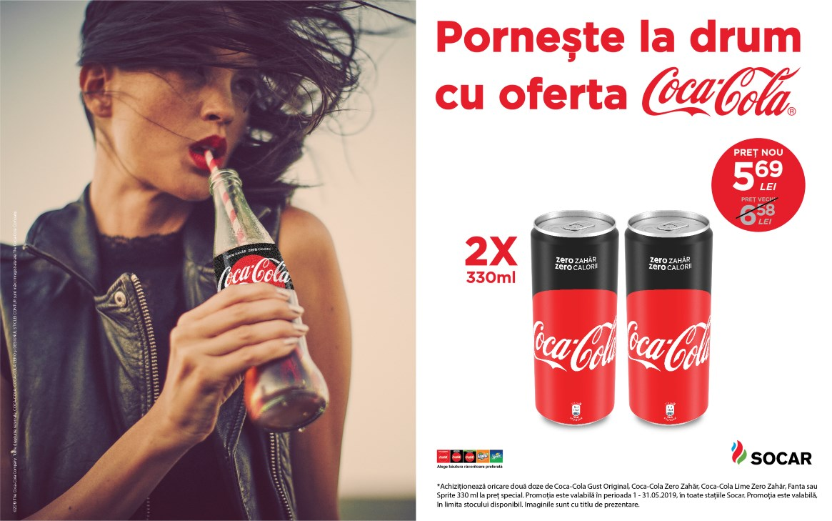 Pornește la drum cu oferta Coca-Cola
