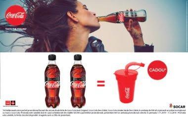 Cadou pahar inscripționat Coca-Cola